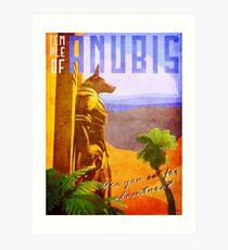 Temple of Anubis Vintage Travel Poster Art Print