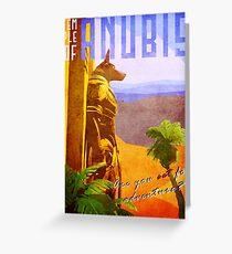Temple of Anubis Vintage Travel Poster Greeting Card