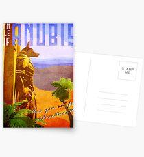 Postales Cartel del viaje del vintage del templo de anubis