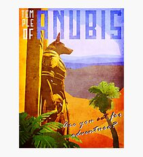 Temple of Anubis Vintage Travel Poster Photographic Print