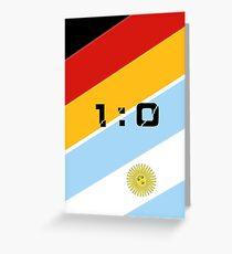 The 2014 World Cup finals Greeting Card