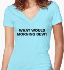 Grateful Dead WWMD? Women's Fitted V-Neck T-Shirt