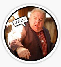 Jerry Lit AF Sticker