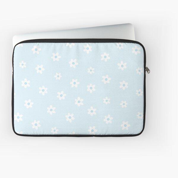 pastel blue floral Laptop Sleeve