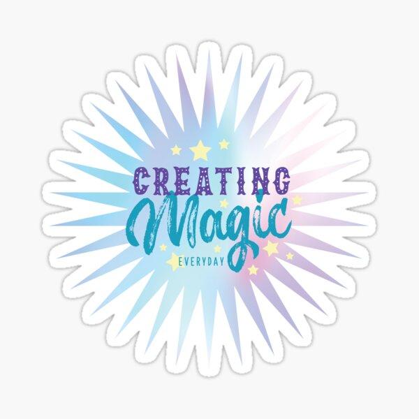 Créer de la magie tous les jours, hologramme pastel Sticker