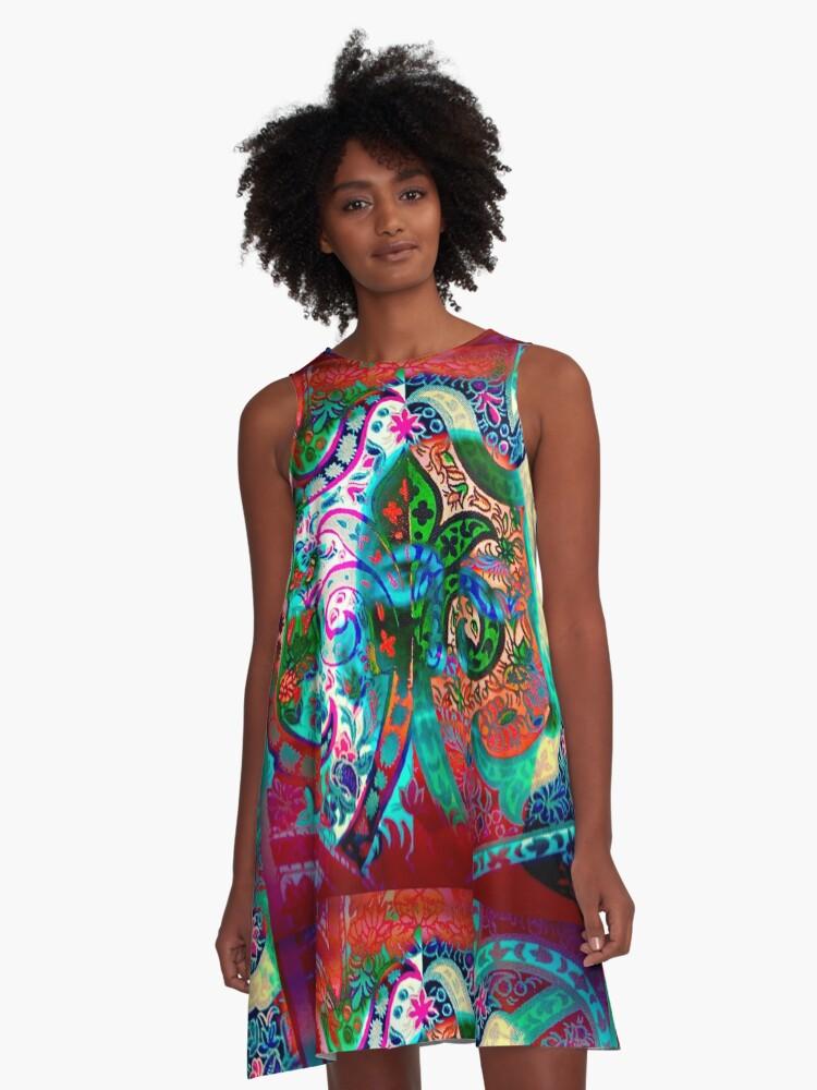 5878 A-Line Dress Front