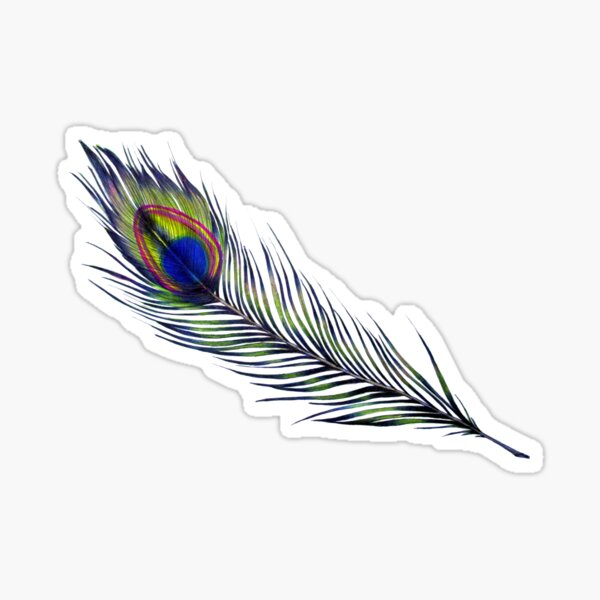 The Peacock's Feather Sticker