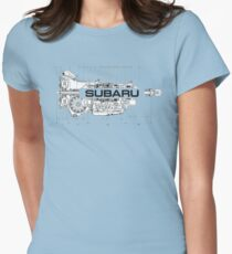 Subaru Transmission  Womens Fitted T-Shirt