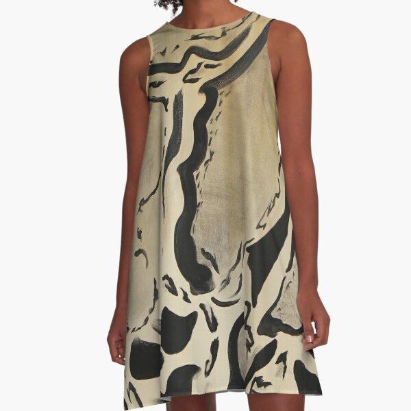 CLOUD LEOPARD A-Line Dress