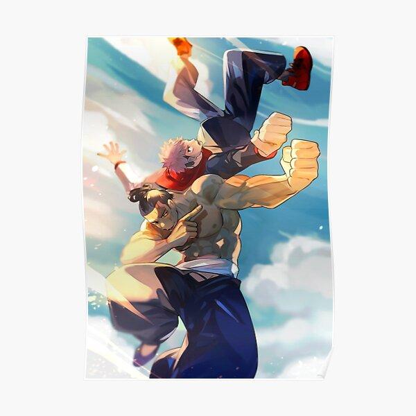 Jujutsu Kaisen Itadori Todo Team Poster