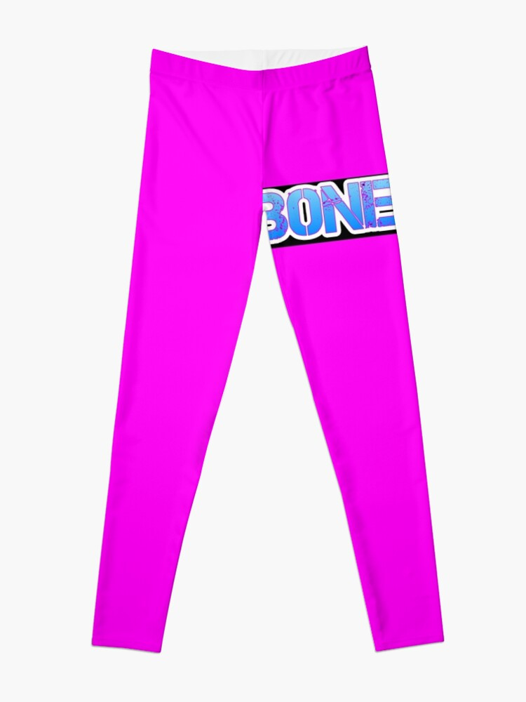 Alternate view of HOT PINK COLLECTION BONE OUT!  Get inspired to live! Leggings