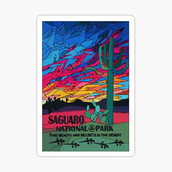 Saguaro National Park Poster Art Sticker