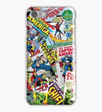 marvel comics pattern iPhone Case/Skin