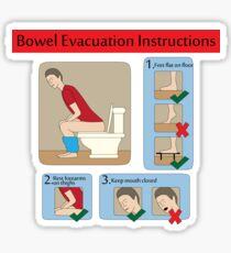 Evacuation instructions Sticker