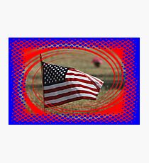 Colorful US Flag on Memorial Day Photographic Print