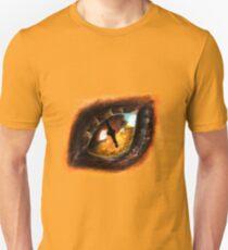 Fire Dragon Eye Unisex T-Shirt
