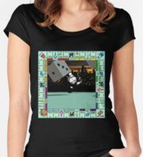 Monopoly Retro Game Board Women's Fitted Scoop T-Shirt