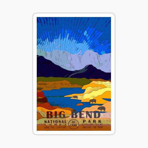 Big Bend National Park Poster Art by Vicki Sticker