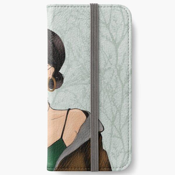 Stylish girl illustration  iPhone Wallet