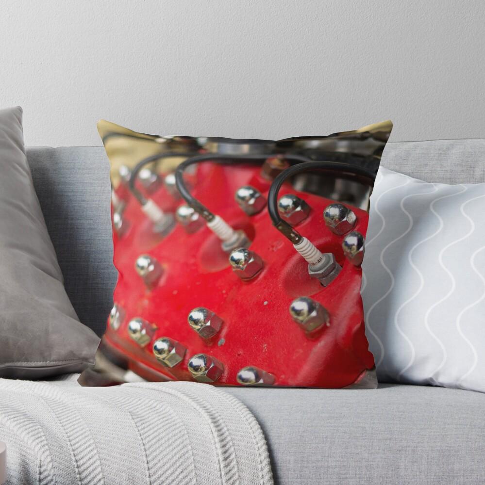 Red Flathead V8 Throw Pillow