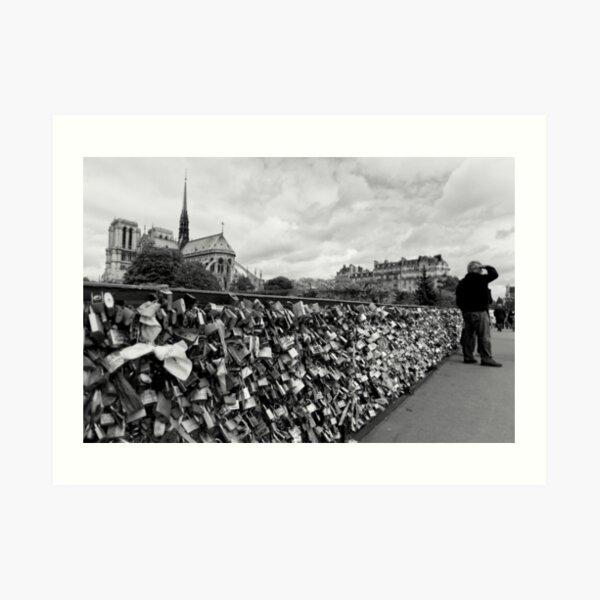 Locking for Love - Paris, France Art Print