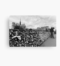 Locking for Love - Paris, France Metal Print