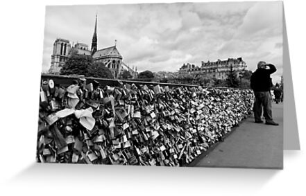 Locking for Love - Paris, France by Norman Repacholi