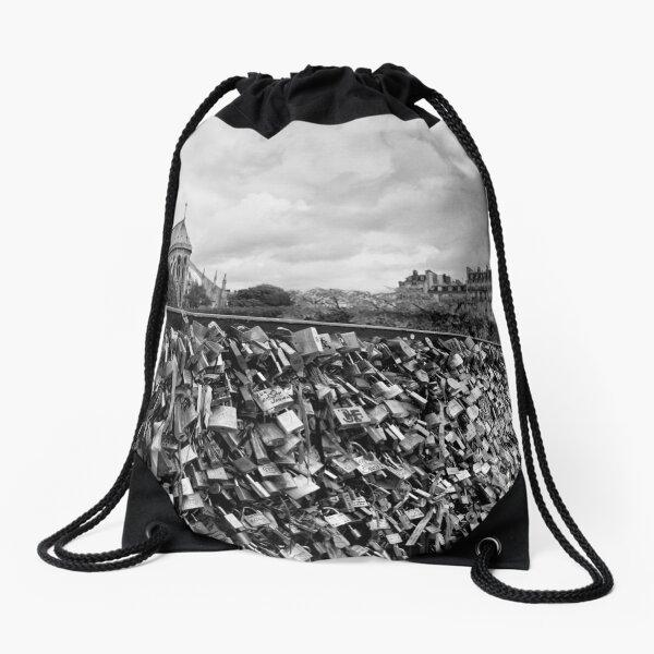 Locking for Love - Paris, France Drawstring Bag
