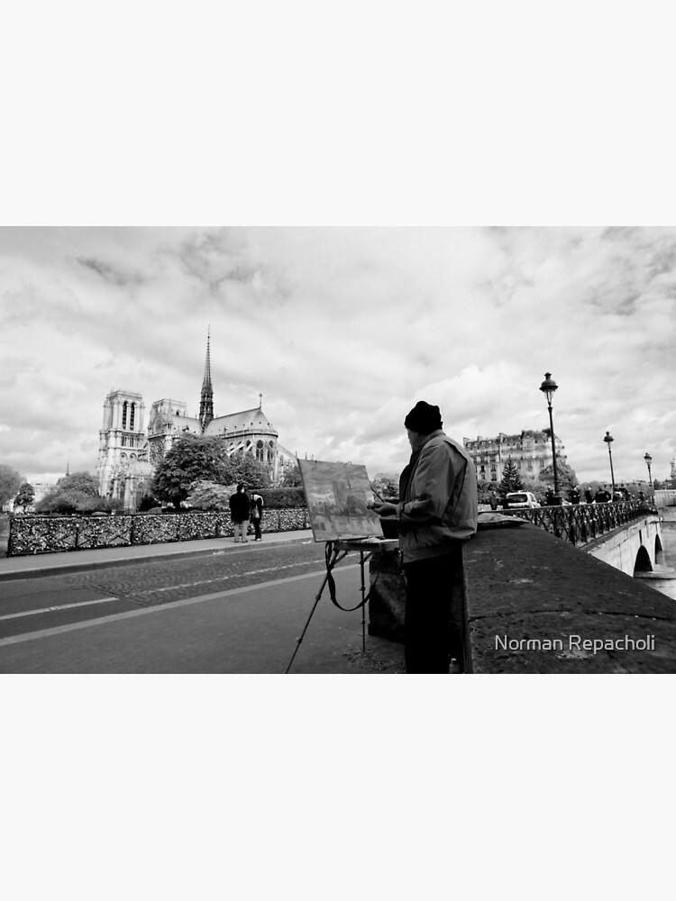Artist at work - Notre Dame - Paris, France by keystone