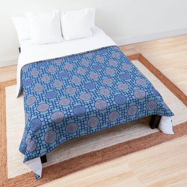 Chinese Geometrics - Blue Comforter