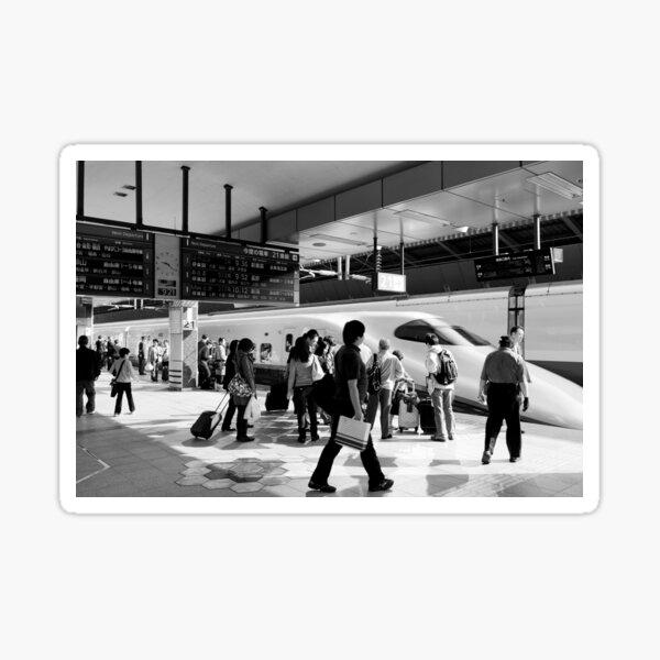 9:36 Shinkansen for Hayabusa - Tokyo, Japan Sticker