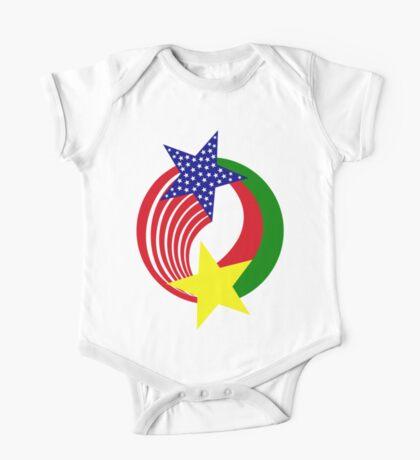 Burkina Faso American Multinational Patriot Flag Kids Clothes