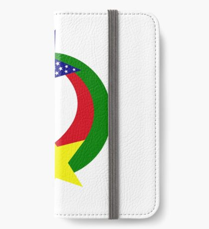 Burkina Faso American Multinational Patriot Flag iPhone Wallet