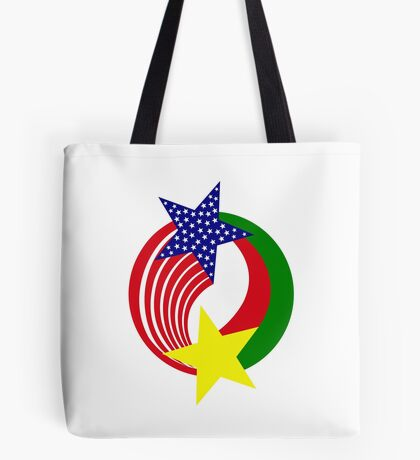Burkina Faso American Multinational Patriot Flag Tote Bag
