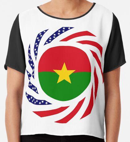 Burkina Faso American Multinational Patriot Flag 1.0 Chiffon Top