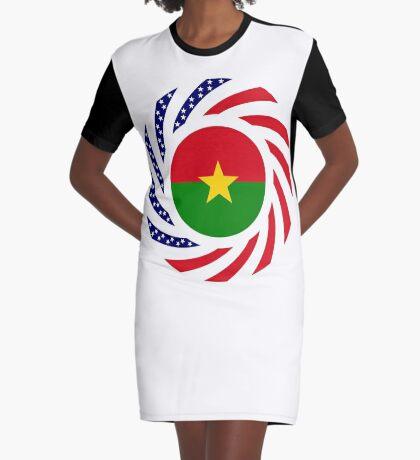 Burkina Faso American Multinational Patriot Flag 1.0 Graphic T-Shirt Dress