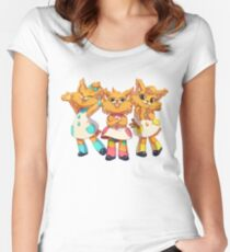 Bubsy Reboot - The Three Little Kittens Women's Fitted Scoop T-Shirt