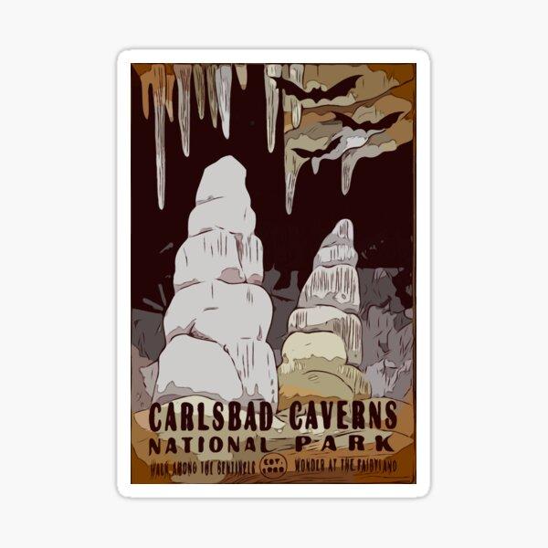 Carlsbad Caverns National Park Poster Art Sticker