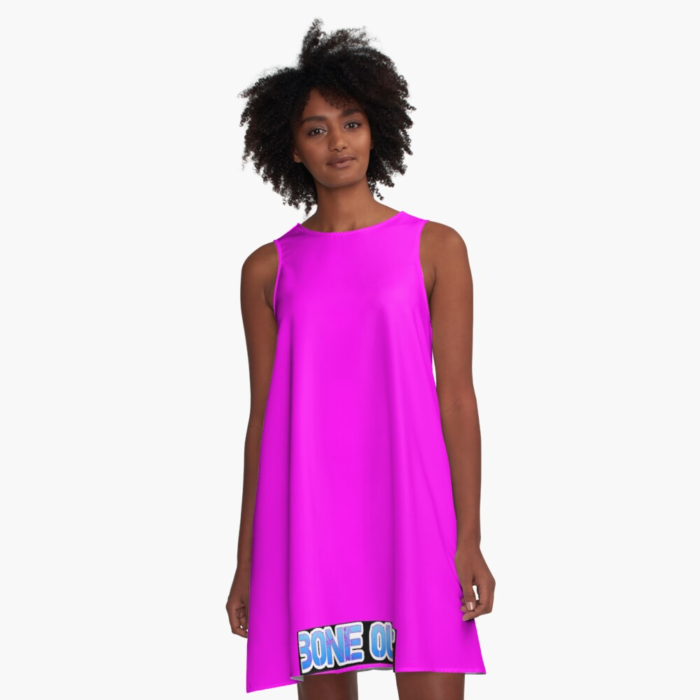 HOT PINK COLLECTION BONE OUT!  Get inspired to live! A-Line Dress