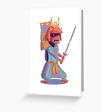 The Steady Strawberry Samurai Greeting Card