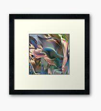 Neon Marble Framed Print