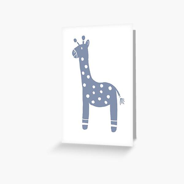 Giraffe nursery illustration  Greeting Card
