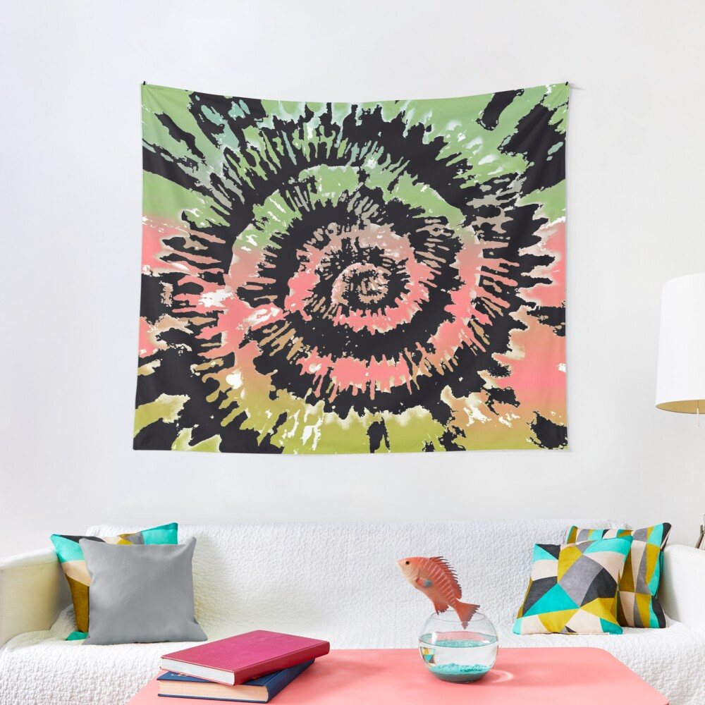 Tie-Dyed Wall Decorations - Bright Colorful Hip Tie Dye Tapestry