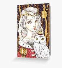 Winter Bride Greeting Card