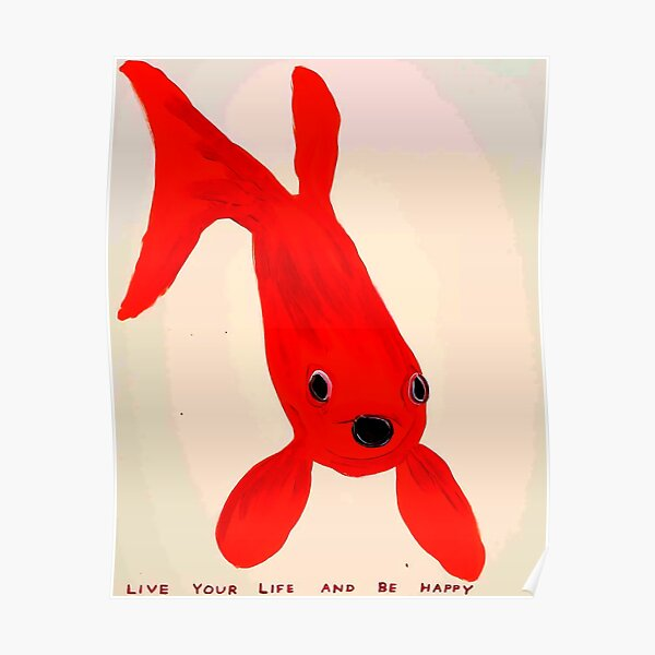 Roter Fisch Poster