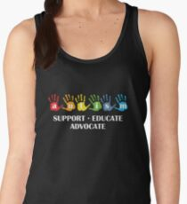 Autism Support Educate Advocate Women's Tank Top