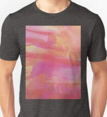 Pink Red Orange Abstract Watercolor Unisex T-Shirt
