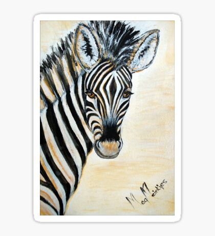 MY ZEBRA BABY - Burchell's zebra Sticker