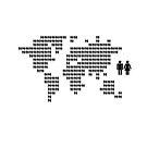 World map made from people icons by Kudryashka