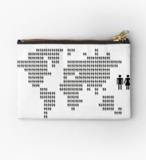 World map made from people icons Studio Pouch